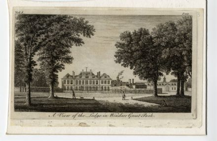 1776 Antique Print WINDSOR GREAT PARK The Lodge GEORGIAN ENGRAVING